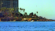 Seashore Digital Art Originals - La Jolla Cove From The Shores by Russ Harris