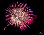 La Jolla Fireworks Print by Russ Harris