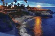 Pools Prints - La Jolla Pools Print by Frank Garciarubio