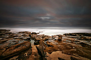 California Surf Prints - La Jolla Reef Sunset 3 Print by Larry Marshall