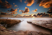 California Surf Prints - La Jolla Reef Sunset 4 Print by Larry Marshall