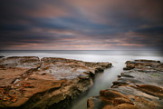 California Surf Prints - La Jolla Reef Sunset 8 Print by Larry Marshall