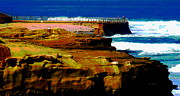 La Jolla Art Prints - La Jolla Rocks 2 Wall Print by Russ Harris