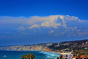 Sea Shore Posters - La Jolla Shores Thunderhead Poster by Russ Harris