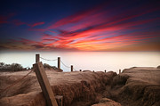 San Diego California Prints - La Jolla Sunset 2 Print by Larry Marshall