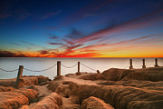 California Surf Prints - La Jolla Sunset 3 Print by Larry Marshall