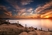 Long-exposure Framed Prints - La Jolla Sunset Framed Print by Larry Marshall