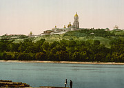 Kiev Framed Prints - La Lavra - Kiev - Ukraine - ca 1900 Framed Print by International  Images