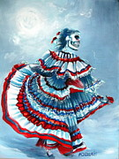 Dresses Prints - La Llorona Print by Heather Calderon