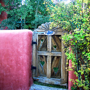 Folk Art Photos - La Loma Gate by Julie Magers Soulen