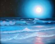 La Luna  My Seascape Collection Print by E Luiza Picciano