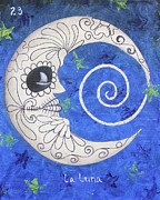 Chicana Mixed Media - La Luna by Sonia Flores Ruiz