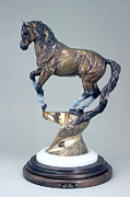 Mustang Sculptures - La Luz by Peggy Detmers