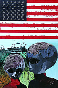 Usa Flag Mixed Media Originals - La Maison des Anges by Alessandro  Rech