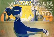 Profile Mixed Media Posters - La Maison Moderne Poster by Manuel Orazi