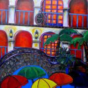 Riverwalk Paintings - La Mansion Del Rio by Patti Schermerhorn