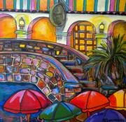 Riverwalk Paintings - La Mansion by Patti Schermerhorn