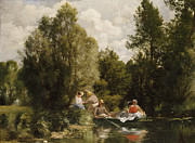 Reflection In Water Prints - La Mare aux Fees Print by Pierre Auguste Renoir