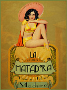 Label Framed Prints - la Matadora Framed Print by Cinema Photography