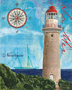 Lighthouse Paintings - La Mer by Debbie DeWitt