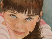 Closeup Pastels Prints - La Mexicana Print by Kim Bumpus