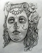 E White Framed Prints - La Muerte Framed Print by E White
