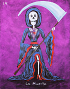 Independence Day Mixed Media - La Muerte by Sonia Flores Ruiz