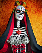 Spanish Digital Art Posters - La Muerte Poster by Tammy Wetzel