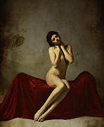 Nude Women Metal Prints - La Musa non Colpevole aka The Innocent Muse Metal Print by Cinema Photography