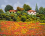 Cypress Framed Prints - La Nuova Estate Framed Print by Guido Borelli