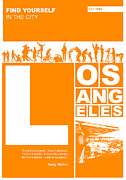 Los Angeles Digital Art Metal Prints - LA Orange Poster Metal Print by Irina  March