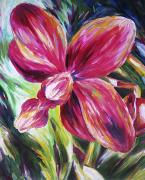 Orchid Art Paintings - LA Orchid by Barbara Eberhart