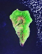 Mega Prints - La Palma Island Print by NASA / Science Source