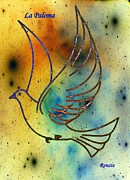 Peace Dove Mixed Media - La Paloma  by Renate Dartois