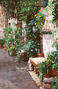 Street Framed Prints - La Panca Di Pietra Framed Print by Guido Borelli