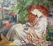 Imprisoned Framed Prints - La Pia de Tolomei Framed Print by Dante Charles Gabriel Rossetti