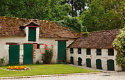 Outbuildings Framed Prints - La Pillebourdiere old farm outbuildings in the Loire Valley Framed Print by Louise Heusinkveld