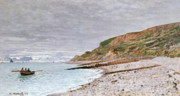 Claude Paintings - La Pointe de la Heve by Claude Monet