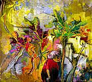 Provence Mixed Media Posters - La Provence 05 Poster by Miki De Goodaboom