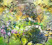 Provence Village Mixed Media Prints - La Provence 07 Print by Miki De Goodaboom
