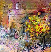 Provence Village Mixed Media Prints - La Provence 13 Print by Miki De Goodaboom