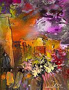 Provence Village Mixed Media Prints - La Provence 14 Print by Miki De Goodaboom