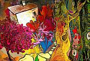 Provence Village Mixed Media Prints - La Provence 15 Print by Miki De Goodaboom
