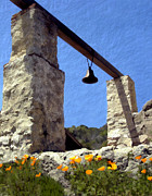 La Purisima Mission Bell Tower Print by Kurt Van Wagner