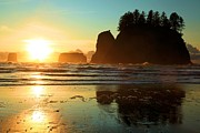 Olympic Peninsula Posters - La Push Sunset Poster by Adam Jewell