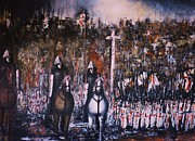 Templar Paintings - La Reconquista by Kaye Miller-Dewing