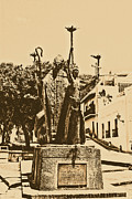 Rogativa Posters - La Rogativa Sculpture Old San Juan Puerto Rico Rustic Poster by Shawn OBrien