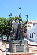 Rogativa Posters - La Rogativa Sculpture Old San Juan Puerto Rico Poster by Shawn OBrien