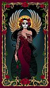 Skeleton Framed Prints - La Rosa Framed Print by Cristina McAllister