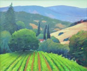 Tuscan Hills Framed Prints - La Rusticana Afternoon. Framed Print by Gary Coleman